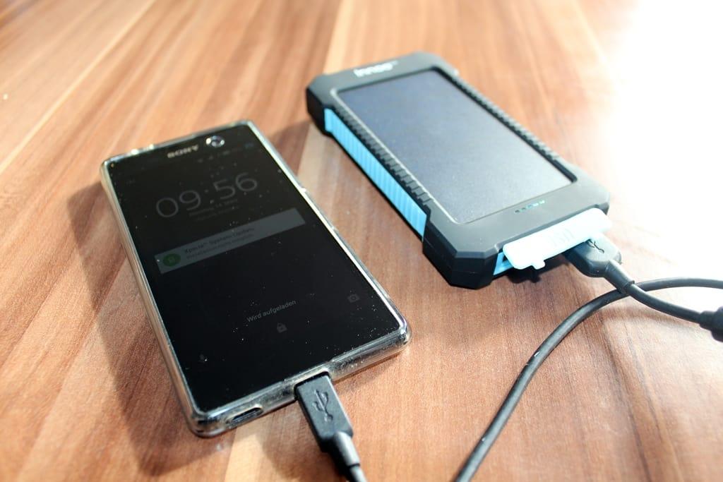 Solar-Ladegerät fürs Handy
