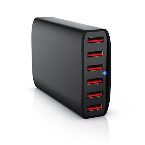 CSL - USB Netzteil 60W 6-Port, Ladegert mit 12000mA, 60 Watt...