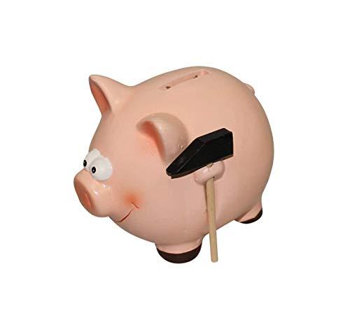 ARTECSIS Sparschwein mit Hammer Rosa Schwein aus Keramik...