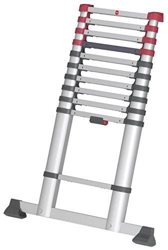 Hailo T80 FlexLine Alu Teleskopleiter   11 Sprossen...