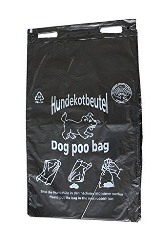 400 Hundekotbeutel Öko Farbe schwarz bedruckt weiß...