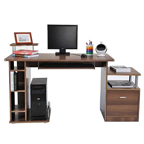 HOMCOM Computertisch Schreibtisch Bürotisch PC Tisch...