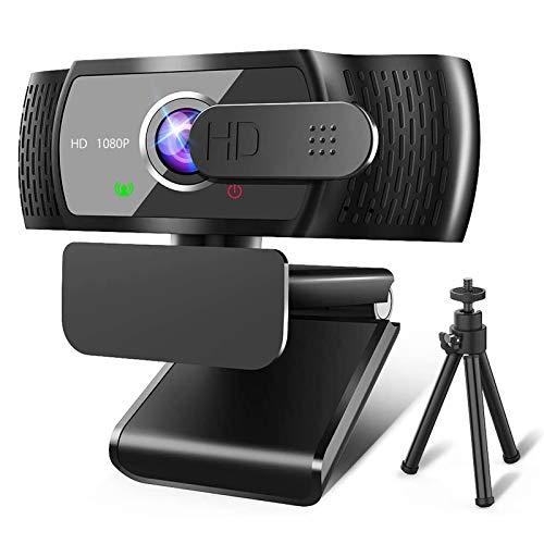 RLBUNZ 1080P Webcam mit Mikrofon, Full HD PC/Laptop...