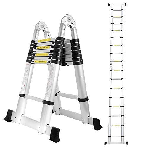 wolketon 5M(2.5+2.5M) Teleskopleiter Klappleiter, Groosse...