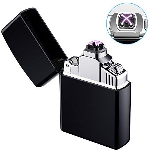 AngLink Elektronisches Feuerzeug, USB Elektro-Feuerzeug Dual...