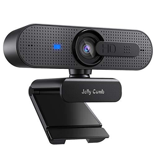 Jelly Comb 1080P HD Webcam mit Objektivdeckel, Streaming...