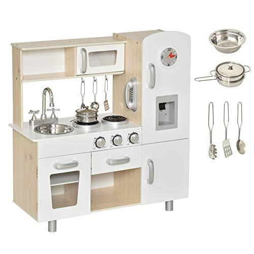 HOMCOM Kinderküche mit Zubehör, Traumküche, Spielküche,...
