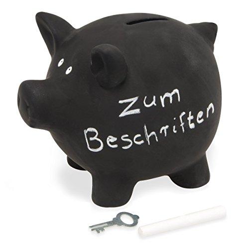 Sparschwein aus Keramik zum Beschriften, Tafellack,...