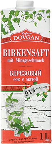 Dovgan Birkensaft mit Minzgeschmack, 6er Pack (6 x 1 l)