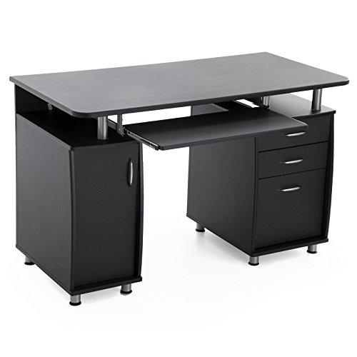 Songmics Computertisch mit Tastaturauszug Einem...