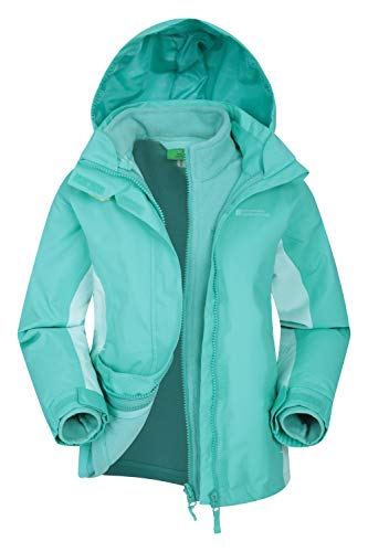 Mountain Warehouse Lightning wasserfeste 3-in-1-Kinder-Jacke...