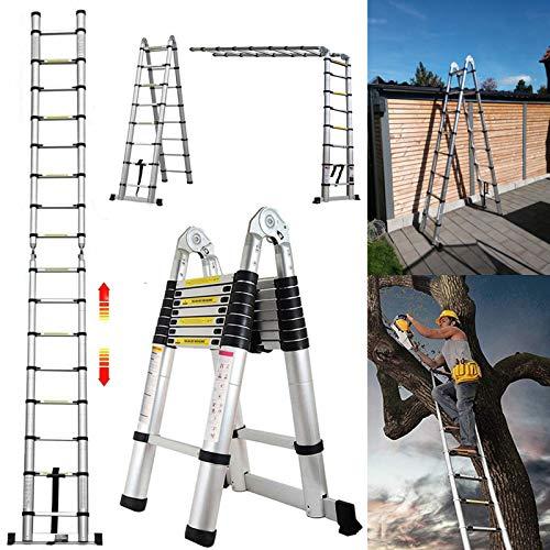 5M Teleskopleiter ausziehbare Leiter Aluleiter Ausziehleiter...