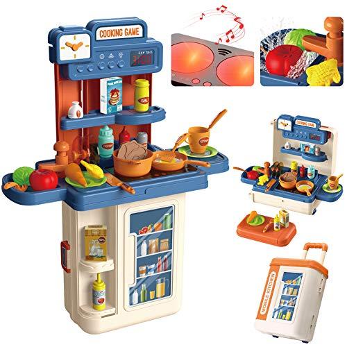 Kinderküche, 4 in 1 Trolley Koffer Spielküche inkl....