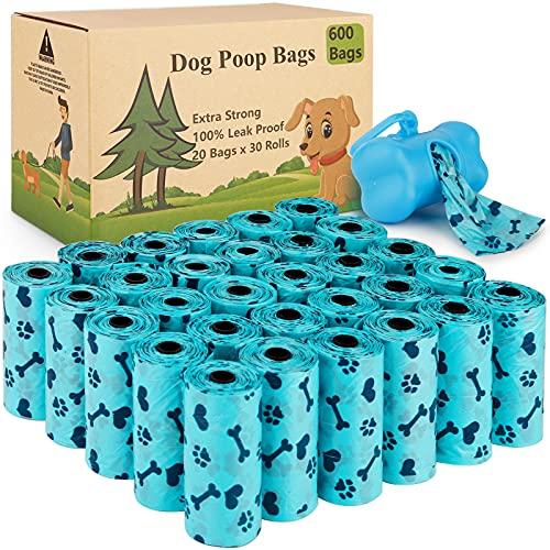 Tonsooze Hundekotbeutel 600 auslaufsichere Kotbeutel und 1...