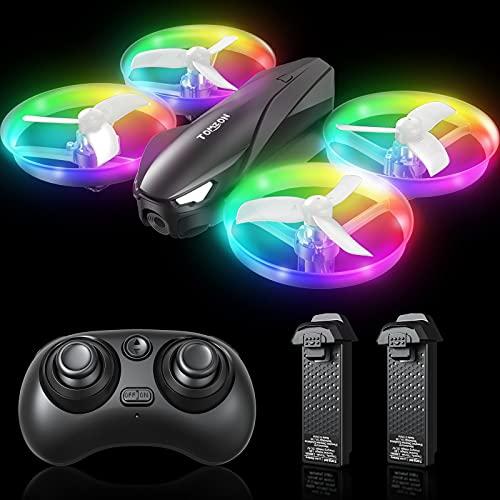 Tomzon Mini Drohne für Kinder, Bunte LED Drohne RC...