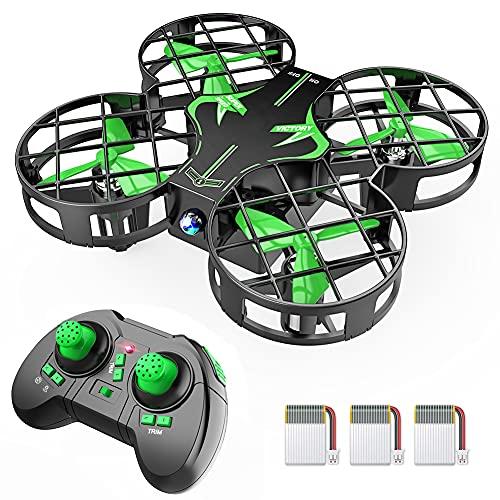 Mini Drohne H823H mit 3 Akkus für 21 Minuten Flugzeit, RC...