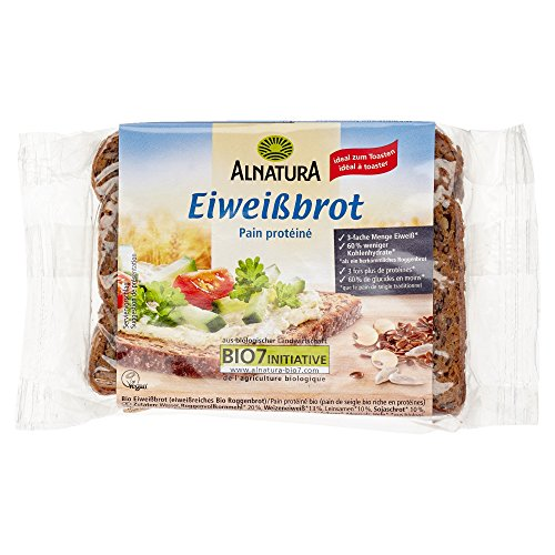 Alnatura Bio Eiweißbrot, vegan, 9er Pack (9 x 250 g)