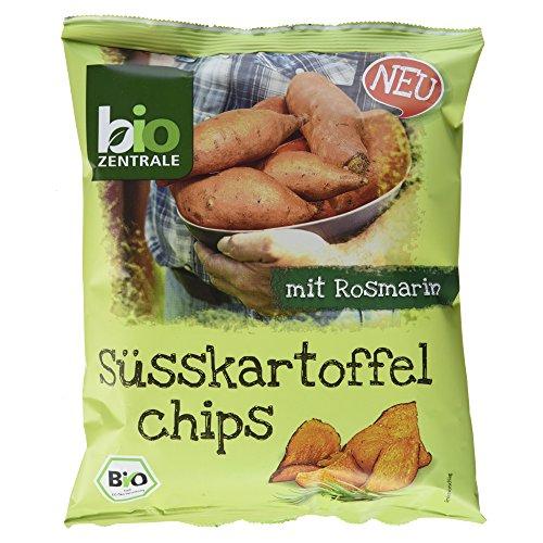 Biozentrale Bio Süsskartoffelchips mit Rosmarin, 6er Pack...