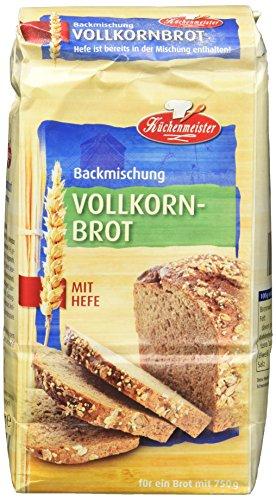 Bielmeier-Küchenmeister Brotbackmischung Vollkornbrot, 15er...