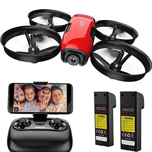 SANROCK U61W Drohne fr Kinder mit Kamera, 2 Batterien, APP...