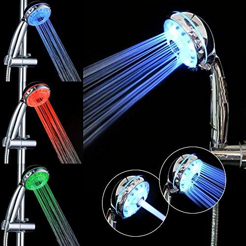 Duschkopf LED Temperatursensor Farbwechsel Handbrause...