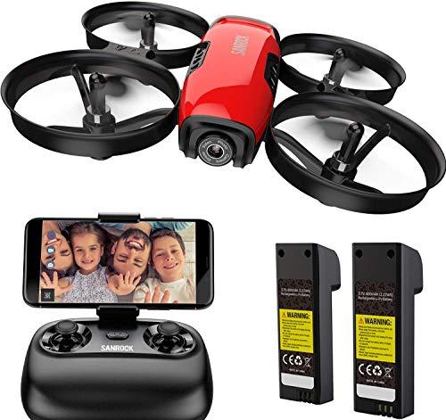 SANROCK Mini Drohne mit Kamera für Kinder Anfänger, RC...
