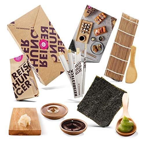 Reishunger Sushi Box, Komplett-Set zum Selbermachen mit...