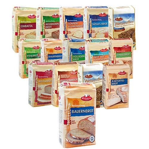BIELMEIER KÜCHENMEISTER Brotbackmischung 15-teiliges...