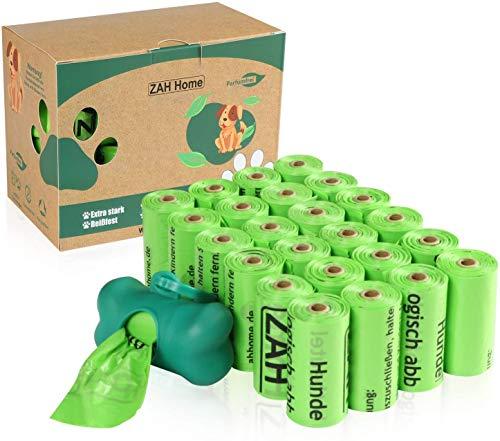 ZAH Hundekotbeutel 360er Pack, kompostierbar und biologisch...