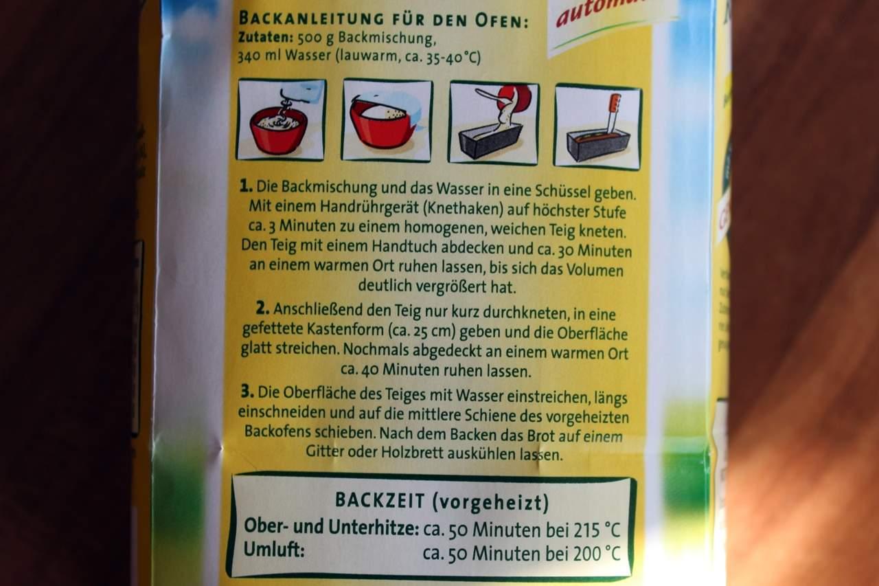 Anleitung für den Ofen