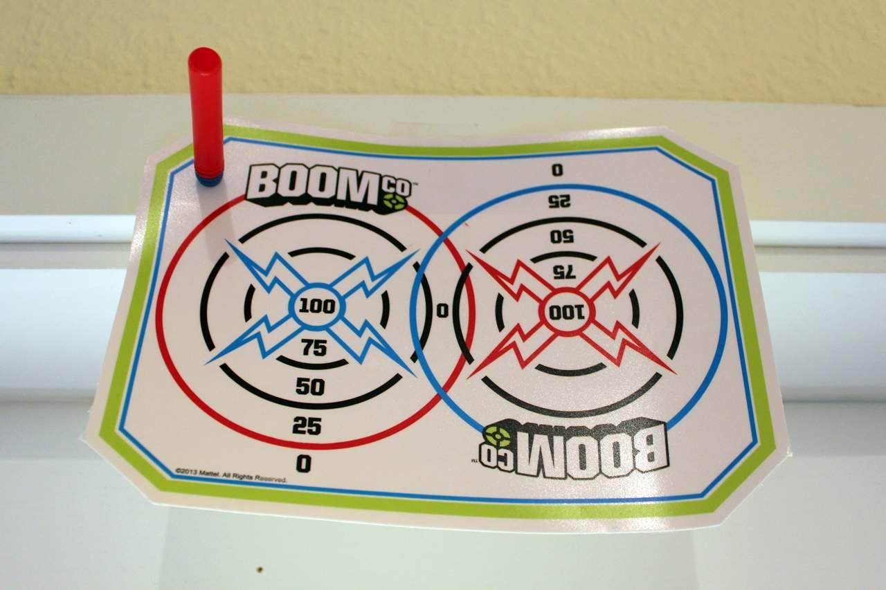 Zielscheibe zur Softpfeil-Pistole Mattel Boomco Dual Defenders