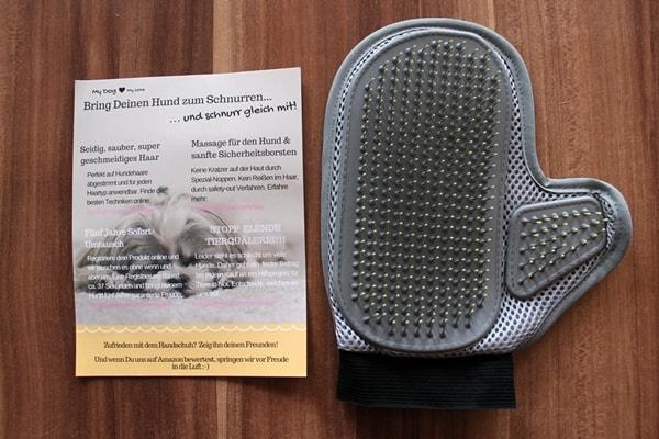 Fellpflege-Handschuh Test